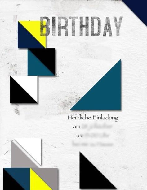 Geburtstagseinladung geometrisches Muster