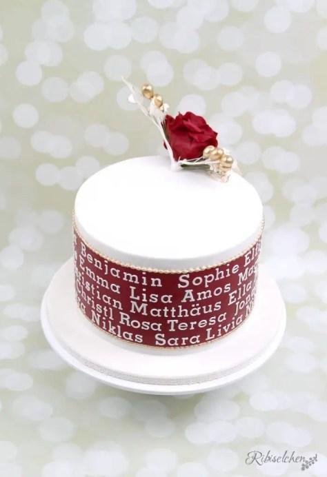 Torte 90. Geburtstag