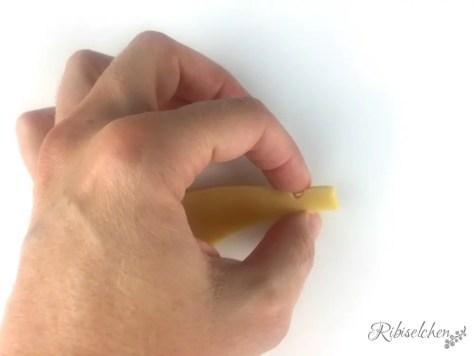 Making-of einer Banane in Keksform