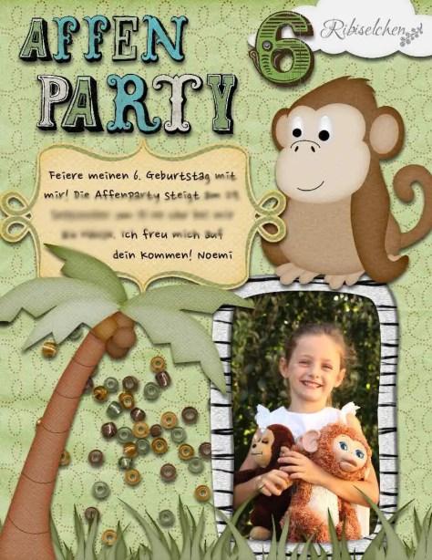 Affenparty Einladung
