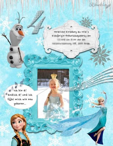Eiskönigin Party Einladung