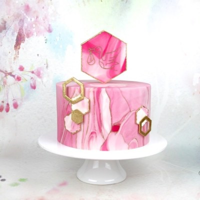 Babyparty Torte rosa