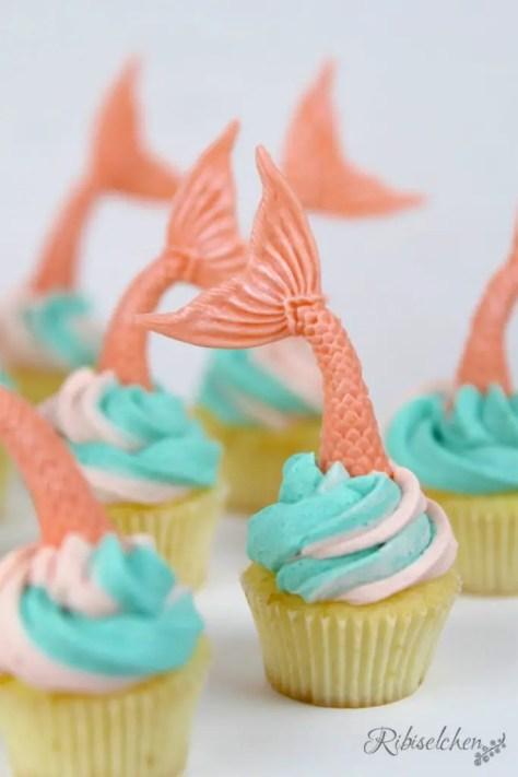 Meerjungfrauen Sweet Table Cupcakes