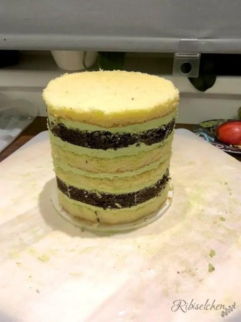 gestapelte Torte