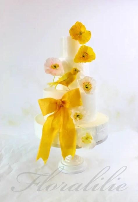 Hochzeitstortentrends 2019 - Floralilie