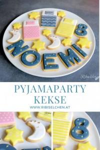 Royal Icing Kekse für deine Pyjamaparty! #ribiselchen #pyjamaparty #übernachtungsparty #kekse #slumberpartycookies #slumberparty