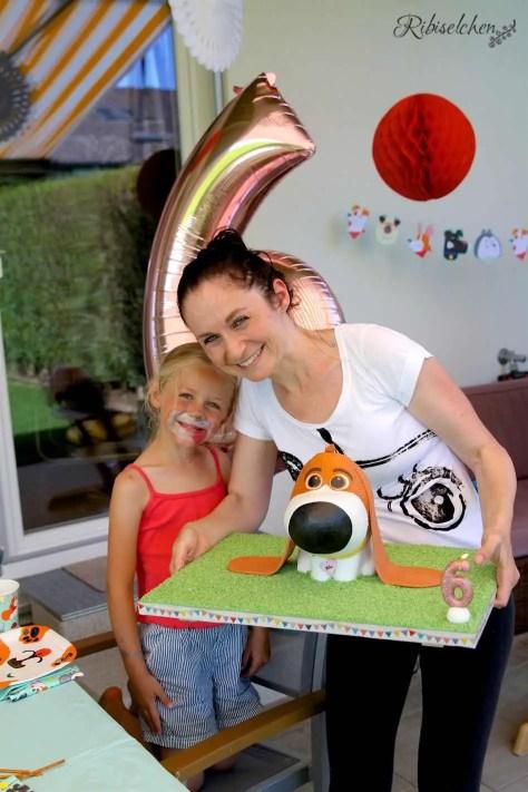 Motivtorte Hund mit Geburtstagskind