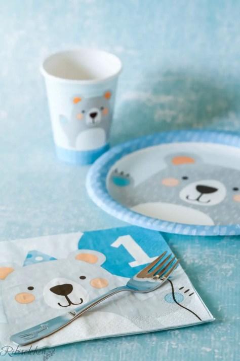 Tischware mit Bärendesign