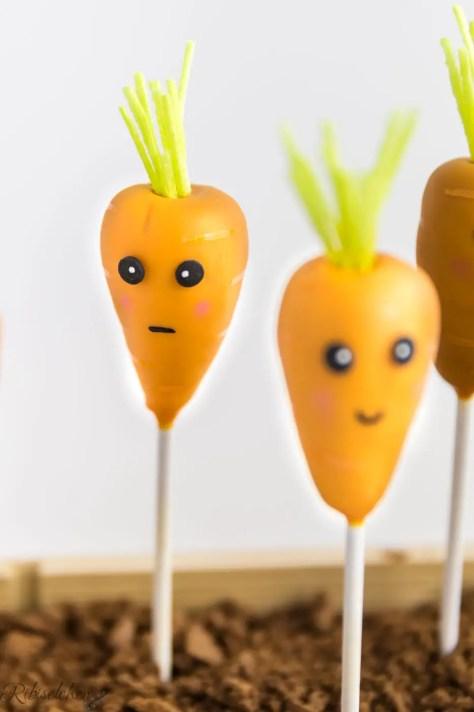 Missmutiger Karotten Cake Pop