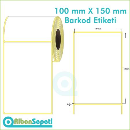 100x150 mm Boş (Beyaz) Etiket