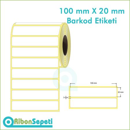 100x20 mm Boş (Beyaz) Etiket