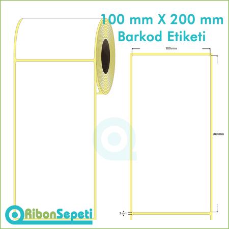 100x200 mm Boş (Beyaz) Etiket