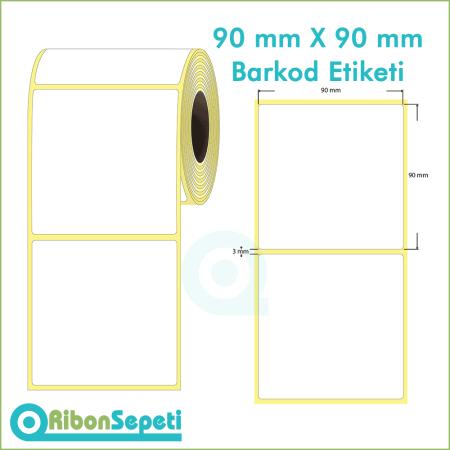 90x90 mm Boş (Beyaz) Etiket