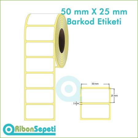 50x25 mm Boş (Beyaz) Etiket