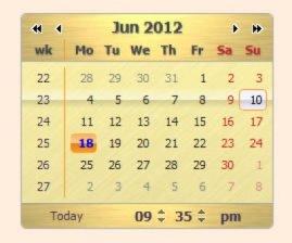 DHTML Calendar