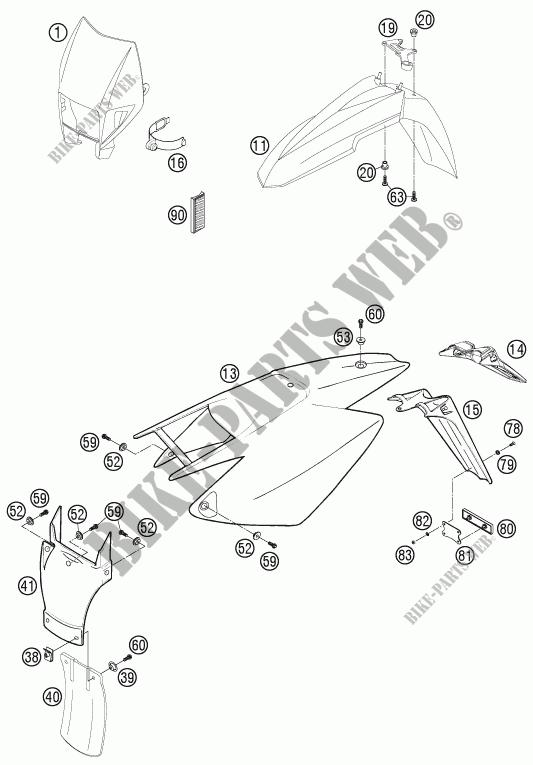 PLASTICHE per HVA FS 650 E 2008 # Husqvarna Motorcycles