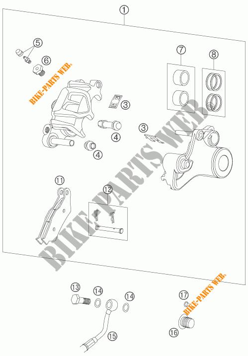 PINZA FRENO POSTERIORE per KTM 990 ADVENTURE S 2007 # KTM
