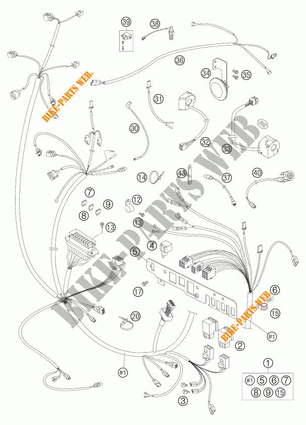 IMPIANTO ELETTRICO per KTM 950 ADVENTURE S 2005 # KTM