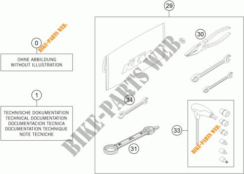 UTENSILI / MANUALE / OPZIONI per KTM 125 XC-W 2018 # KTM
