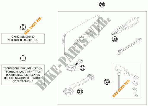 UTENSILI / MANUALE / OPZIONI per KTM 250 EXC SIX-DAYS 2008