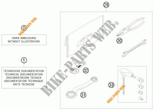 UTENSILI / MANUALE / OPZIONI per KTM 250 EXC 2008 # KTM