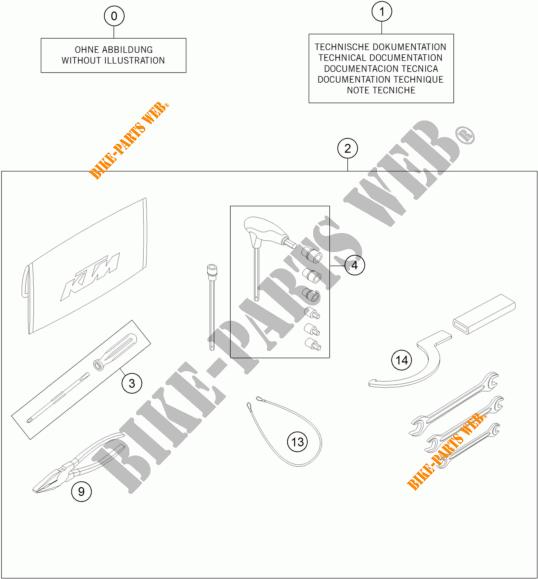 UTENSILI / MANUALE / OPZIONI per KTM 1290 SUPER DUKE GT
