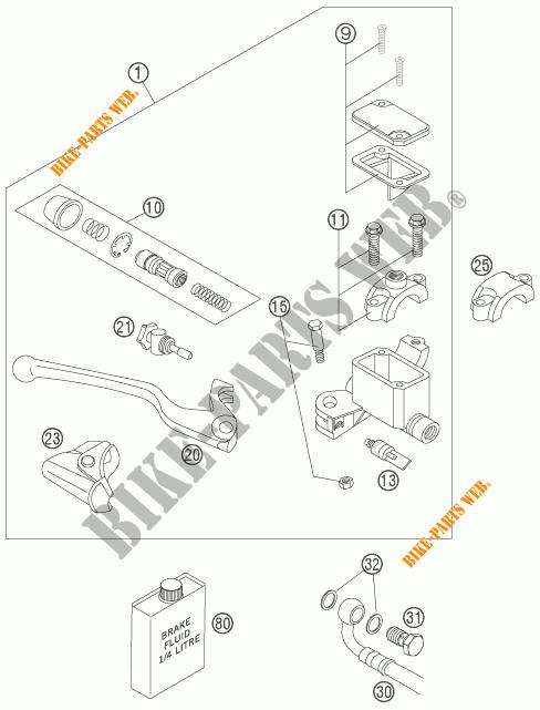 POMPA FRENO ANTERIORE per KTM 950 SUPER ENDURO R 2007