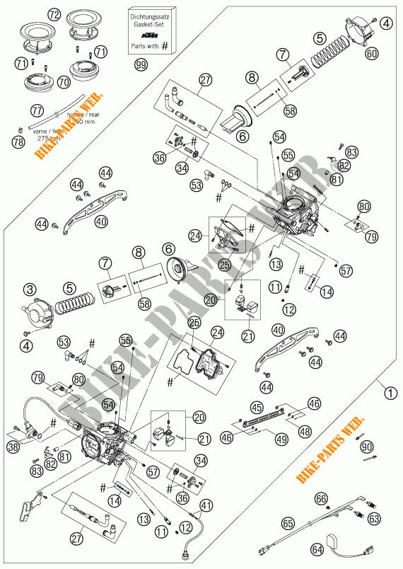 CARBURATORE per KTM 950 SUPER ENDURO R 2007 # KTM