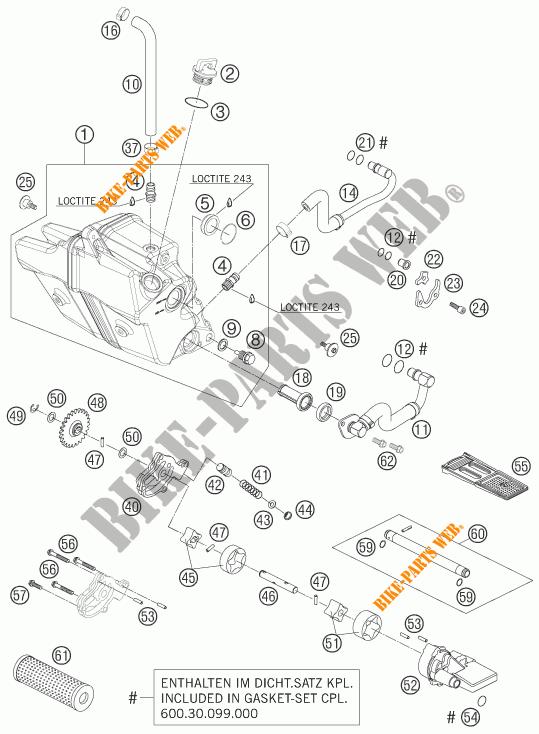 POMPA OLIO per KTM 950 SUPER ENDURO R 2007 # KTM