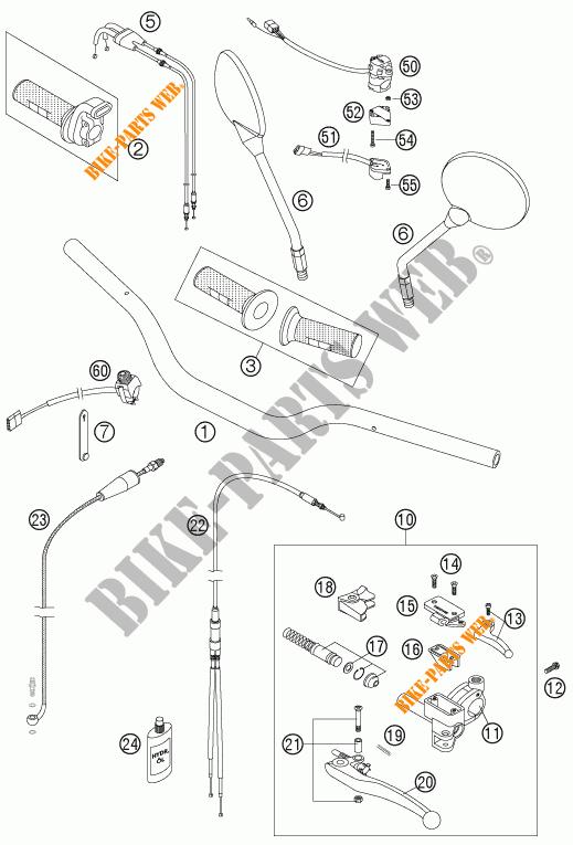 MANUBRIO / COMANDI per KTM 950 SUPER ENDURO R 2006 # KTM
