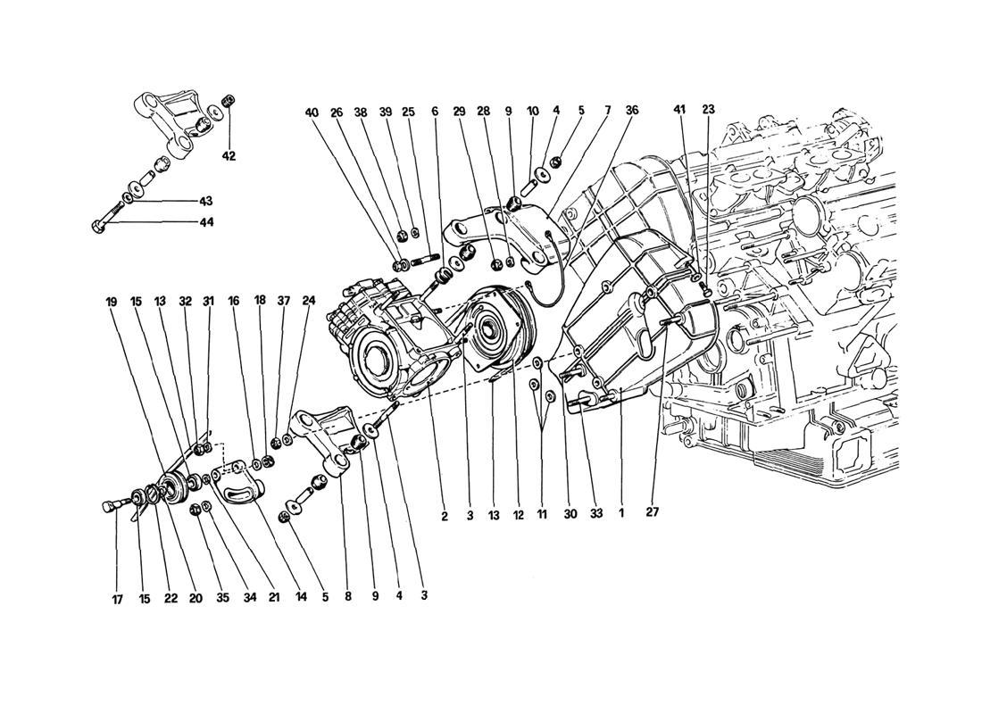 Ferrari 308GTB/GTS AIR CONDITIONING COMPRESSOR AND