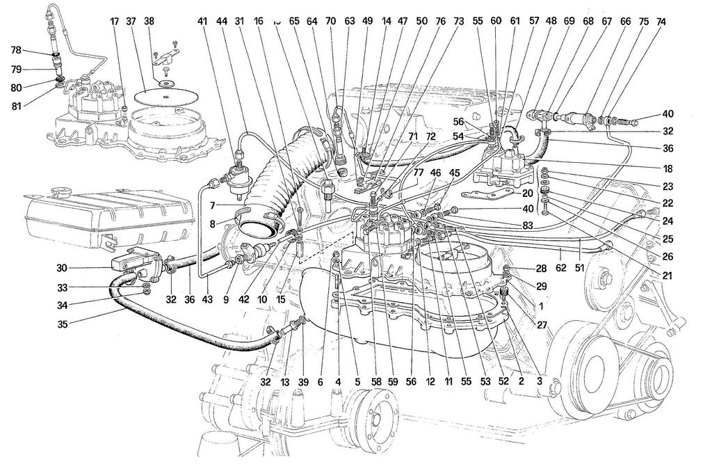Ferrari 308QVUS FUEL INJECTION SYSTEM