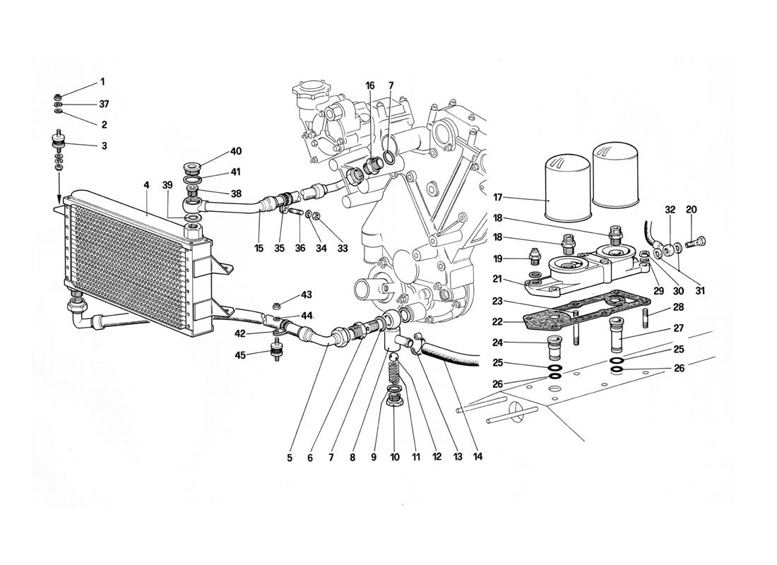 Ferrari 412 Lubrication Circuit And Filters
