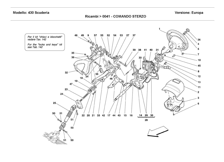 Ferrari 430 Scuderia Steering Column