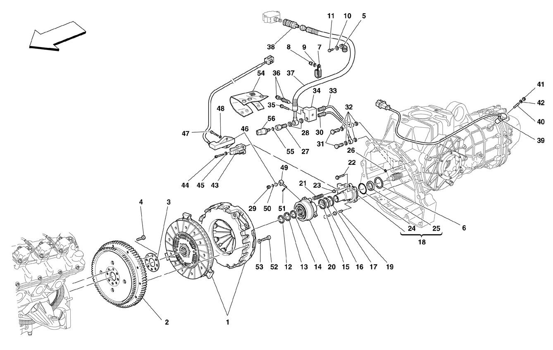 Ferrari F430 Spider Clutch And Controls Valid For F1