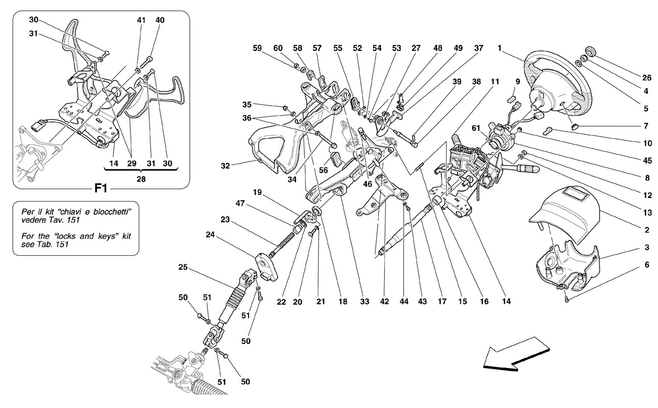 Ferrari F430 Spider Steering Column