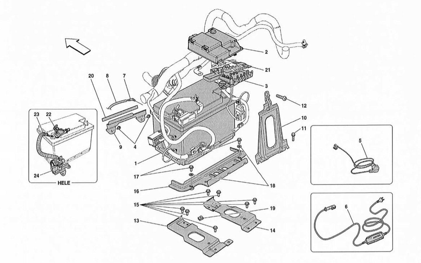 Ferrari 458 Spider 13 Battery