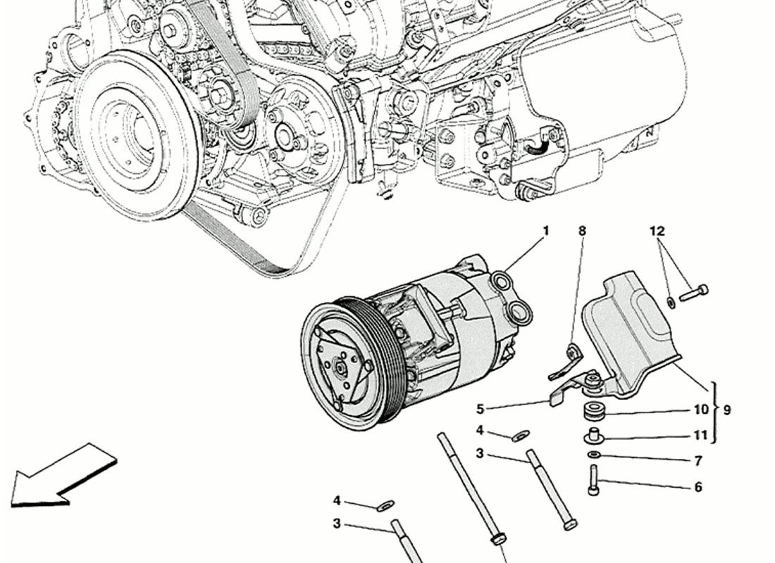 Ferrari 458 Speciale Air Conditioning Compressor