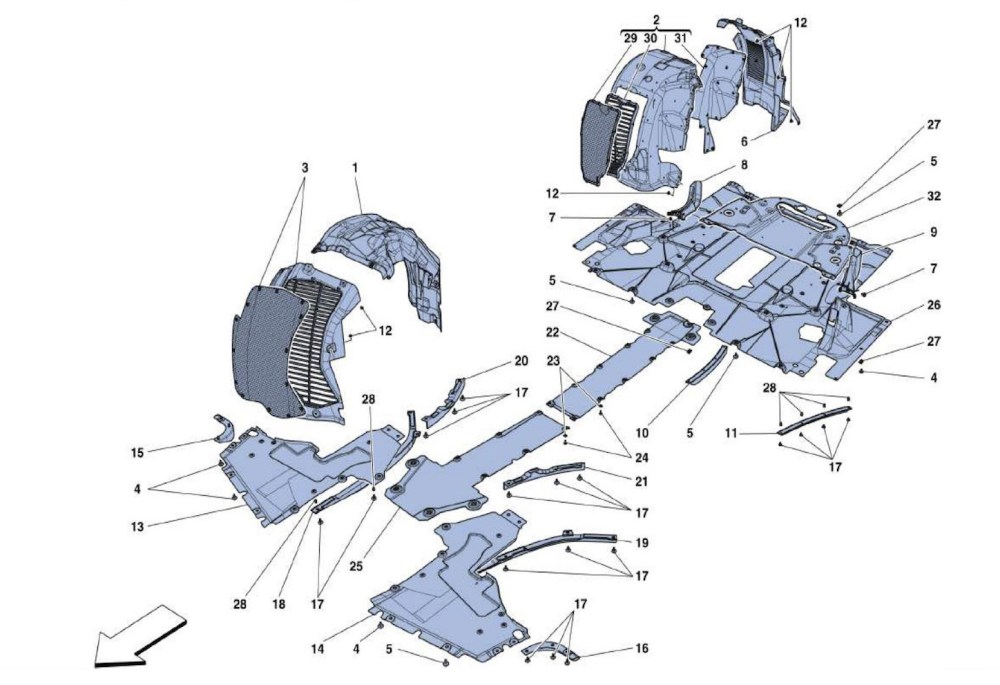 medium resolution of flat undertray and wheelhousing