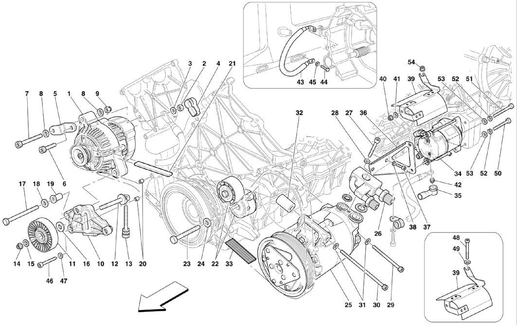 Ferrari ENZO ALTERNATOR, STARTING MOTOR AND A.C