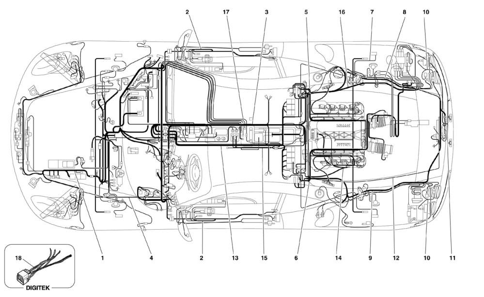 medium resolution of ferrari f430 05 08 electrical system ricambi america inc ferrari f430 engine diagram