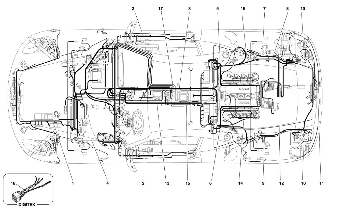 hight resolution of ferrari f430 05 08 electrical system ricambi america inc ferrari f430 engine diagram