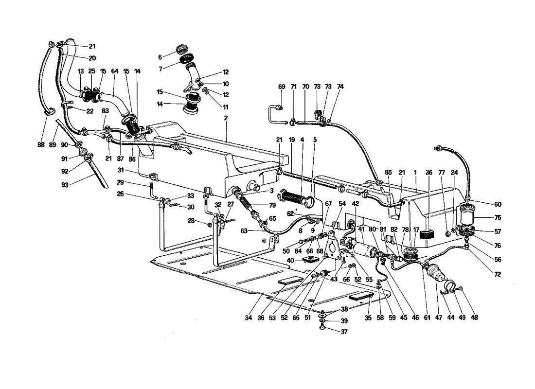 Ferrari Mondial QV FUEL PUMP AND PIPES (CABRIOLET
