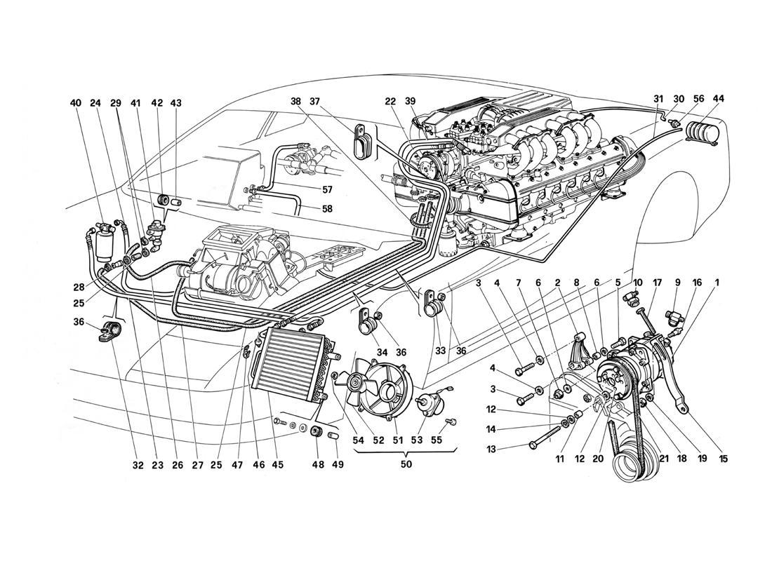 Ferrari Testarossa (1987) AIR CONDITIONING SYSTEM