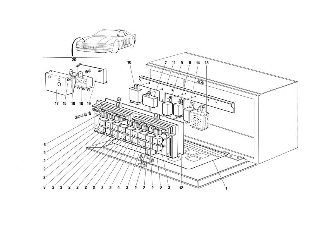 Ferrari Testarossa (1987) VALVES AND ELECTROMAGNETIC