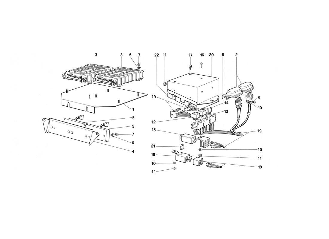 Ferrari Testarossa (1990) ELECTRIC CONTROLS FOR KE
