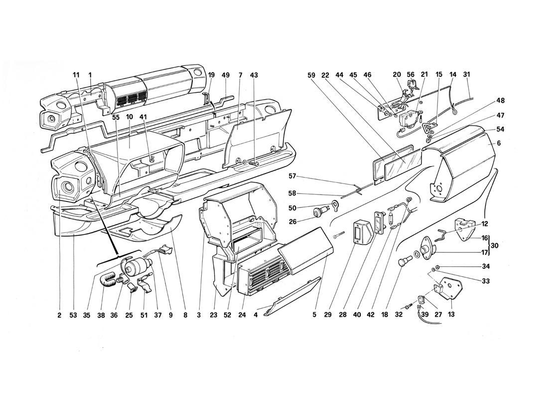 Ferrari Testarossa (1990) DASHBOARD (FOR US VERSION
