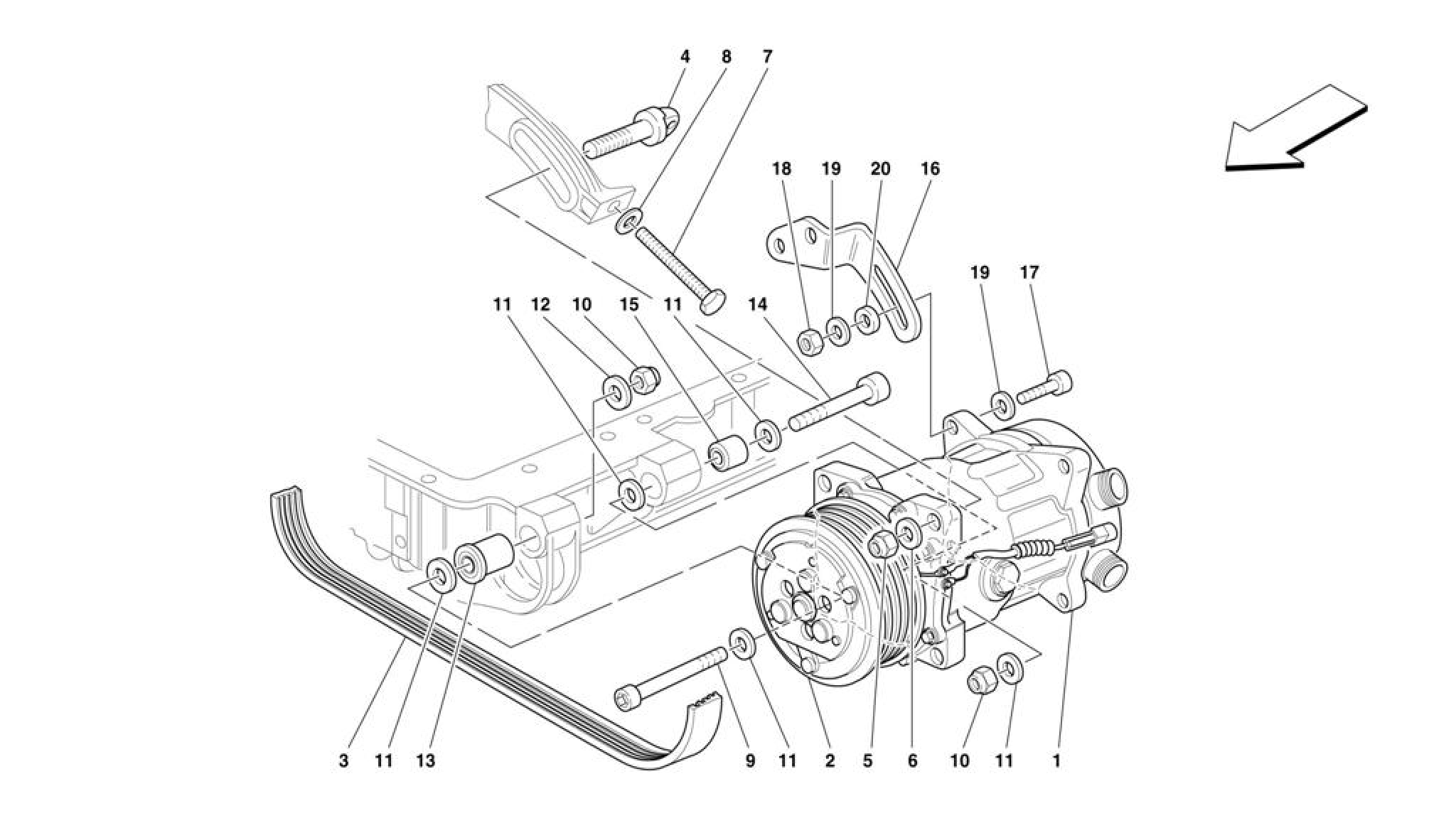 Ferrari F355 M5.2 (1996+) AIR CONDITIONING COMPRESSOR