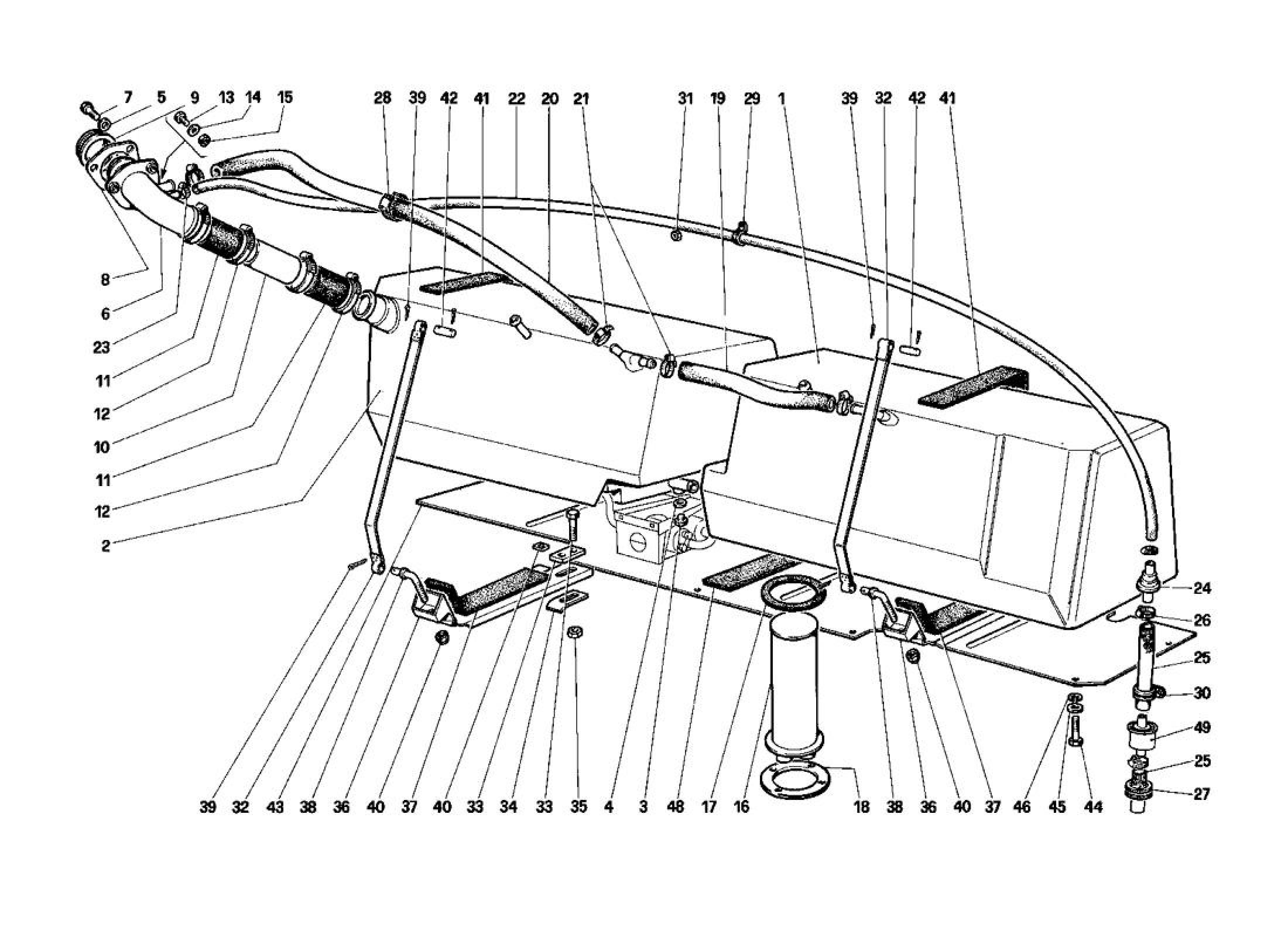Ferrari Testarossa (1987) FUEL TANKS (NOT FOR U.S. AND SA