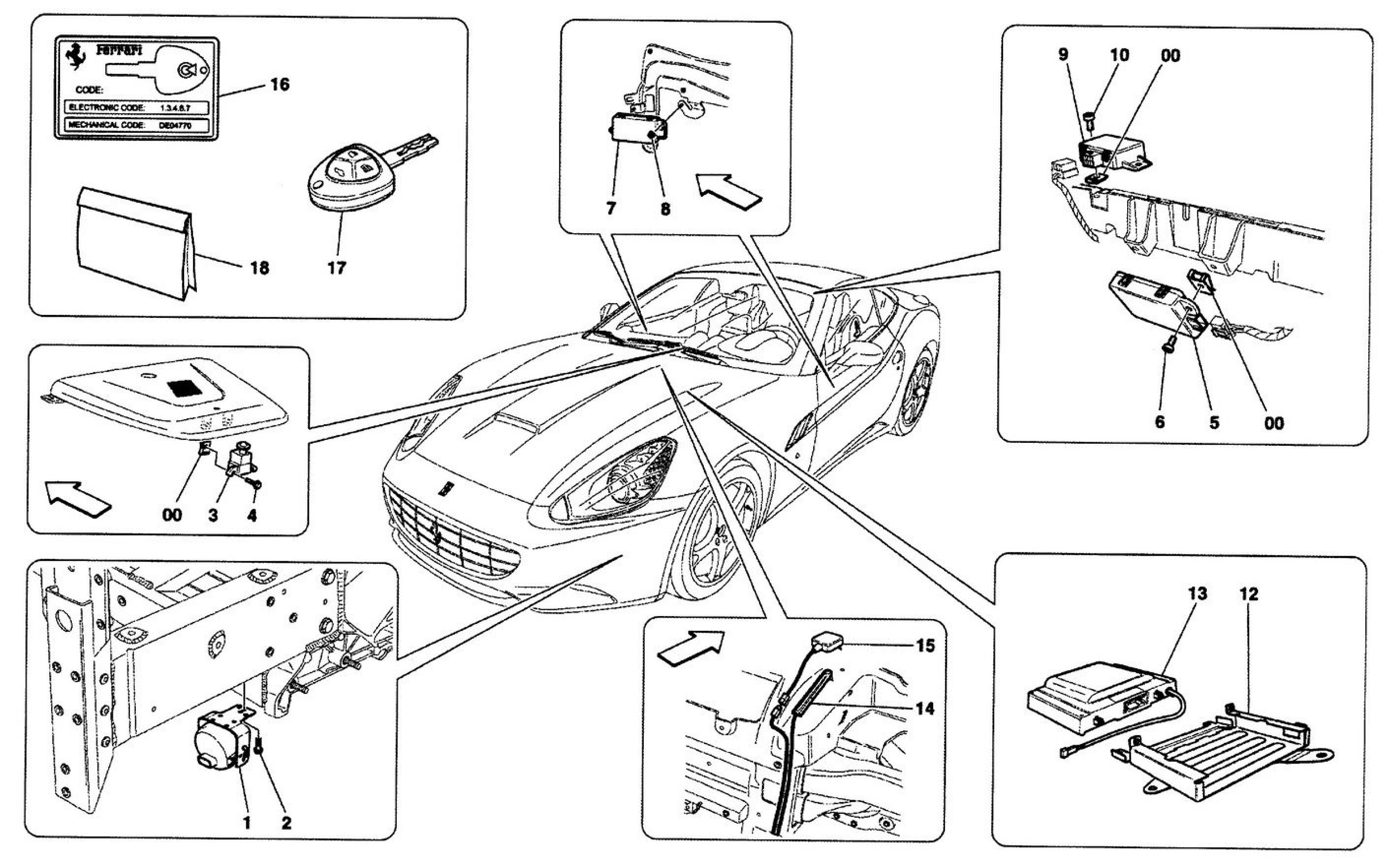 Ferrari California (09) ALARM AND IMMOBILIZER SYSTEM